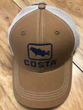 BRAND NEW COSTA DEL MAR BASS TRUCKER CAP HAT  BROWN   - HOT HOT