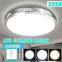 220V 24W 48W 6500K Bright Dimmable LED Round Ceiling Light Fixture Thin Lamp New