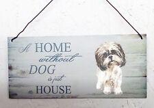 Shih tzu, House & Home metal hanging sign, decorative sign
