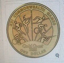 2018 COMMONWEALTH GAMES - GOLD COAST $1 DOLLAR. DESIGN 3, UNCIRCULATED