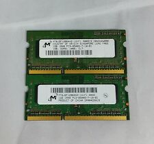 Micron 2GB 2x1GB DDR3 PC3-8500S 1Rx8 LAPTOP MEMORY RAM