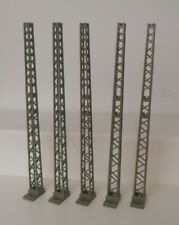Marklin HO Catenary Tower Masts 7021 Without Bases Clean (5 Pieces)