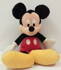 "Big Vintage DISNEYLAND WALT DISNEY WORLD 16"" MICKEY MOUSE Plush Stuffed Toy Red"