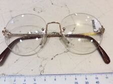 Zeiss Glasant 6630 4014 49-16 occhiale vista vintage nuovo metallo colore oro