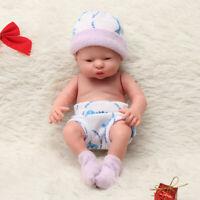 10'' Reborn Toddler Girl Baby Doll Lifelike Soft Silicone Vinyl Newborn Kids Toy