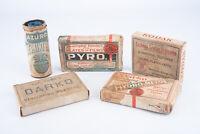 Lot of Antique Darkroom Film Developing Chemicals Kodak Darko Pyro Azuro V11