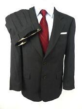 Hugo Boss Men Suit US 38R Apollo/Akropolis Grey Pinstripe 2-Btn Pleat Front Cuff