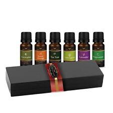 Essential Oil Gift Set Sampler Kit 6 - 10 ml. 100% Pure Therapeutic Grade Lot