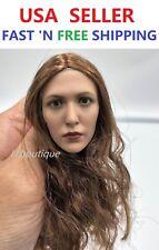 Custom Scarlet Witch 1/6 Elizabeth Olsen head sculpt for 12'' Female Doll