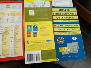 LOT VINTAGE FOLDING TRAVEL TOURIST ROAD MAPS/ AUTOKARTE GERMANY/ AUSTRIA/Dunlop