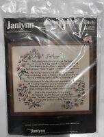 Counted Cross Stitch Kit Janlynn 80-03 Father Vintage Stoney Creek New