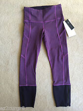 Lululemon Rebel Runner Crop Giant Herringbone Blk Grape Heather Tender Violet 4