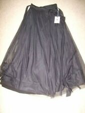 new with tags black tulle two birds wrap midi tea length skirt size A 8 10 12