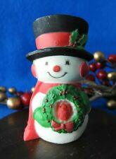 Hallmark Merry Miniature 1976 Snowman with Wreath