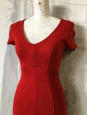 French Connection red dress Paris xs Small layered lined stretch as New wiggle