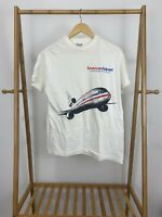 VTG Hanes 90S American Airlines Take Flight Single Stitch T-Shirt Size M USA
