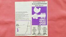 1969 Woodstock White Lake Bethel Ny advance ticket order forms pamphlet ad