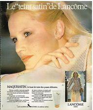 Publicité Advertising 1978 Cosmétique maquillage Lancome