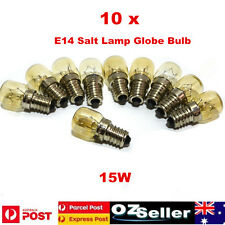 10 X15w E14 Salt Lamp Globe Bulb (240v Ses E14) Clear Bulbs for Senenite Lamps
