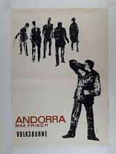 Plakat Volksbühne Berlin 1966 Max Frisch Andorra Guter Zustand