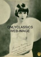 LOUISE BROOKS LULU PARAMOUNT PICTURES SIGNATURE 5x7 PHOTO DELTA PEARLS FLAPPER