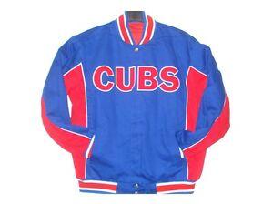 MLB Chicago Cubs Cotton Jacket  Reversible Red & Royal Color JH Design