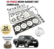 FOR MITSUBISHI L200 WARRIOR 2.5 DID 2006--> ENGINE HEAD GASKET SET COMPLETE