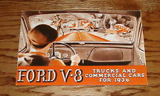 1936 Ford V-8 Truck Full Line & Commerical Car Foldout Sales Brochure 36