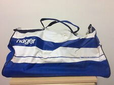 Vintage 1980s 1990s Hager Electrical White & Blue Sports Gym Duffle Tote Bag