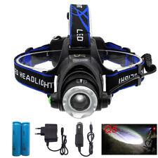 Q5 Focus LED Flashlight Headlamp Head Torch 18650 Battery Car AC Charger