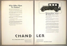 Chandler Motor Car Double-Page PRINT AD - 1925 ~~ automobile, auto