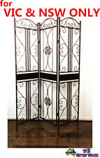 3 Panel Metal Room Divider Screen Furniture Home FREE POSTAGE VIC & NSW ONLY
