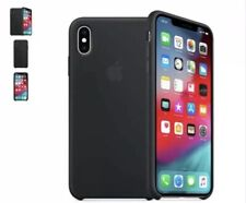 Genuine Apple iPhone Xs Silicone Case Black Charcoal Brand New 2019