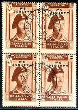 Corpo Polacco 1946 P.A. n. 1b quartina - varietà (m149)