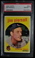 1959 Topps - Jim Piersall - #355 - PSA 8 - NM-MT