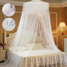 White Mosquito Net Canopy Fly Insect Repellent Protection For Single Double Bed