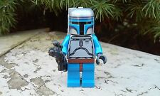 "Custom Star Wars Jango Fett with Blaster 1.75"" Minifigure Size NEW"