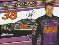 2017 David Ragan signed Juice Batteries Ford Fusion NASCAR MENCS postcard