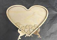 Wedding Heart shaped wood Guest Book. Guest Book Drop Box Signature Frames 70