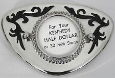 BELT BUCKLES metal western accessories 1/2 $ kennedy half dollar COIN BUCKLE NEW