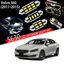 16 Bulbs Super White 5630 LED For Volvo S60 2011-2015 Interior Light Kit Package