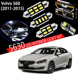 16 Bulbs Super White 5630 LED For Volvo S60 2011-2015 Interior Light Kit Package