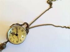 Vintage  sphere style watch Pendant Necklace - Antique Style Jewelry free PP