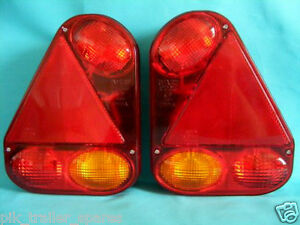 2 x Radex 2900 Rear Trailer Lamp Light -  Non Plug-in - Ifor Williams