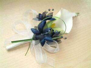 Calla Lily & Small Flowers Buttonhole, Ladies Corsage Groom Wedding All Colours