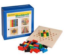 Steckspiel Steckbrett Holzsteckspiel STERN 12 x 12 Steckspiele von Egermann