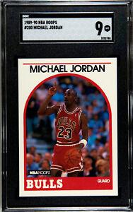 1989-90 NBA Hoops #200 Michael Jordan Bulls HOF SGC 9 MINT