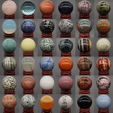 40Mm Wholesale Lots Mix Natural Gemstone Sphere Healing Globe Crystal Ball