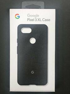 Genuine Google Pixel 3 XL Genuine Fabric Protective Back Phone Case Cover -Black