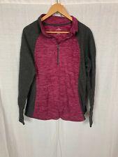 St John's Bay Active Women's Fleece Long Sleeve Half Zip Pullover Shirt Size XL